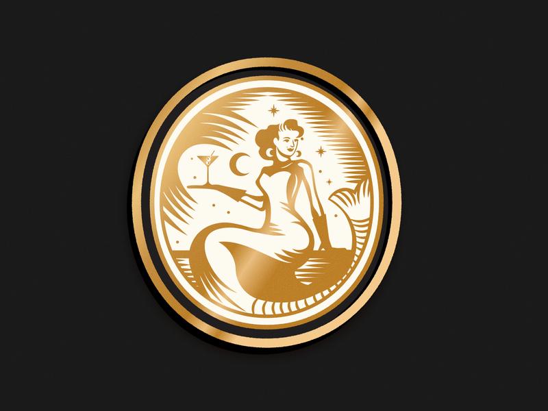 Martini's restaurant logo restaurant brand mermaid woman logo design branding brand logo