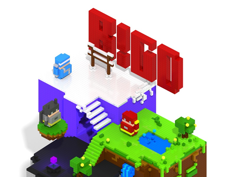 Rendering of MagicaVoxel by KIDD on Dribbble