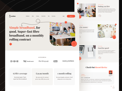 Redesign Cuckoo Webiste header review featured landing page design landingpage website design network popular shot website mobile ui
