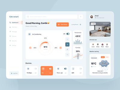 Cek-smart - Smart Home Dashboard dashboard ui control panel home devices dashboard smarthome website design website ui