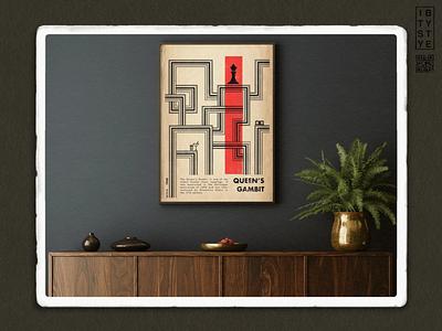 Queen's Gambit queens gambit ipadproart adobeillustator procreate design textured illustration