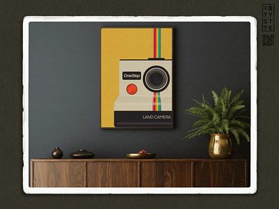 Land Camera polaroid ipadproart adobeillustator procreate design textured illustration