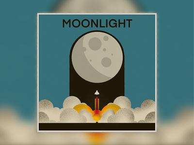 Moonlight Sketch illustration textured ipadproart moon procreate