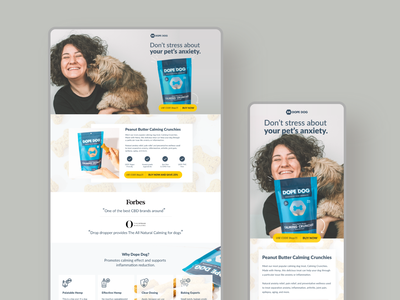 Dope Dog Landing Page design unbounce colorful website products landing page dog products website concept website design website dog website dog illustration deck design illustration branding ui cool website concepts adobe xd user experience design landing page