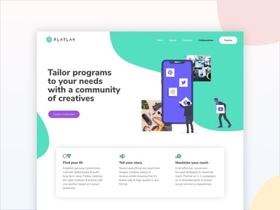 Flatlay website UI/UX