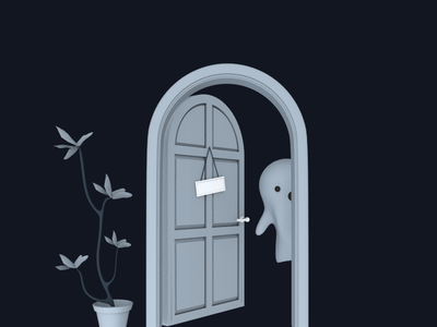 No one inside app empty state empty illustration visual design graphic design 3d