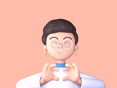 Pride 3D character illustration visual design character design character illustration 3d