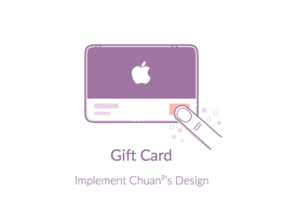 Implent Chuan²'s Design gesture button code animation card illustration
