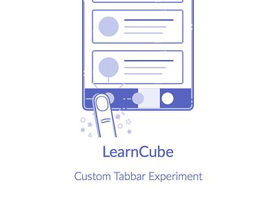 Learn Cube(Illustration) illustration github gesture animation bar tab code