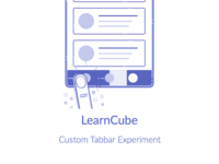 Learn Cube(Illustration) illustration github gesture animation bar tab code