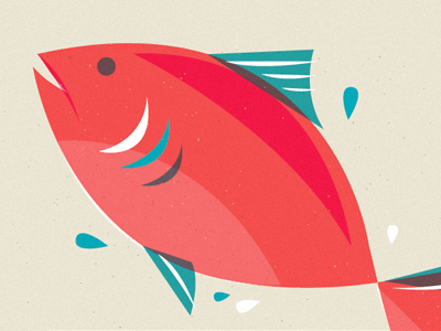 Fishy packaging food illustration fish salmon