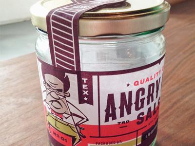 Angry Man Mockup identity branding illustration mascot packaging salsa