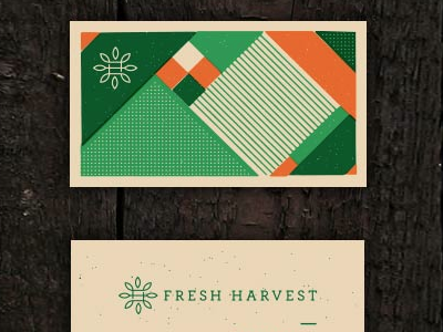 Fresh Harvest identity logo branding produce businesscard