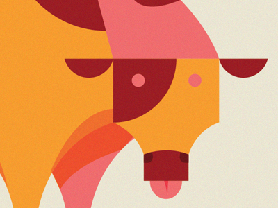 moo illustration packaging beef cow