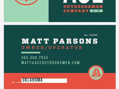 ACE O.C. Stationary identity branding stationary businesscard letterhead envelope notecard