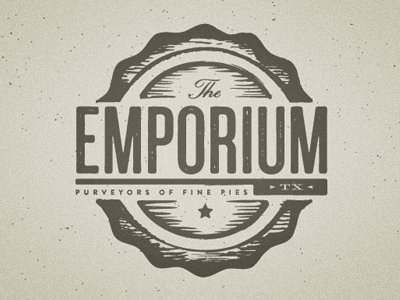 Emporium Pies identity branding logo pies food texas