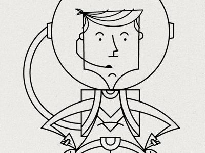 Astronaut astronaut illustration ferocious quarterly ferocious