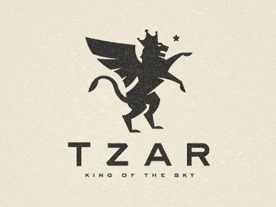 TZAR  logo identity branding heraldry lion crown star cirque