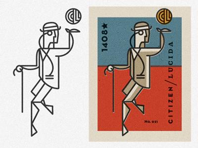 Citizen of Light identity branding logo illustration matchbox