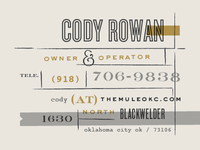 The Mule • Business Card