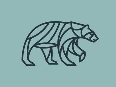 Bear logo branding identity