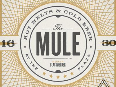 Mule Coaster branding identity logo restaurant collateral coaster