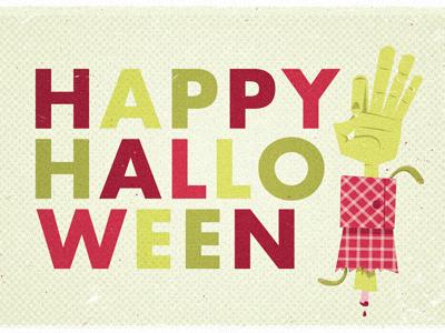 Halloween Hand halloween illustration pink green zombie walkingdead