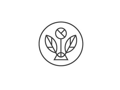 JW Tea identity branding tea leaves plant logo