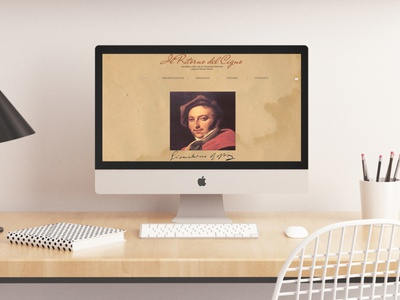 ritorno del cigno rossini website mockup film website film web layout minimal website design web design mockup website design