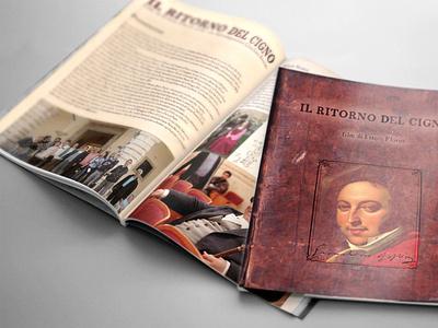 ritorno del cigno rossini mockup film poster film pressbook leaflet typography mockup layout branding design