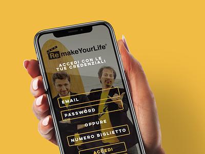 Remake Your Life App mockup app design app website minimal design