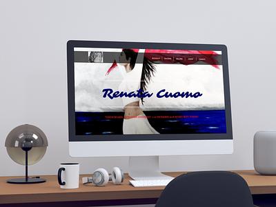 Renata cuomo website mockup illustration painter website design web web design website layout branding design