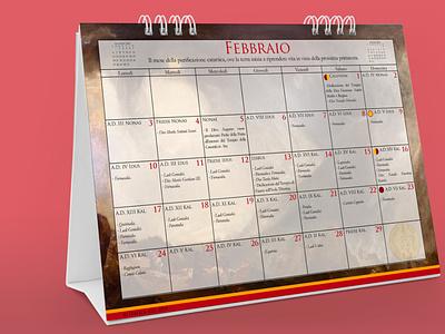 Italica res Calendar Mockup merchandise design merchandising merchandise calendar design calendar typography layout minimal design