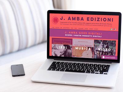 JAmba website mockup website design mockup web design web website layout branding minimal design