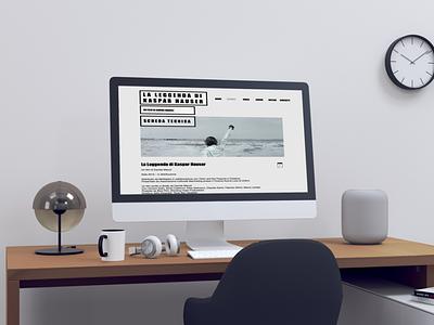 kaspar hauser website mockup film website film website design web design mockup web website layout branding minimal design