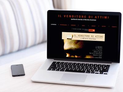 Venditore di attimi website mockup layout design website design web design web mockup branding website layout minimal design