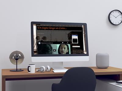 sogni corti sito mockup film website design web design web mockup logo website layout branding design