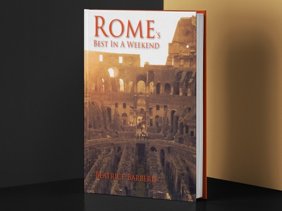 Rome s best in a weekend mockup photographer photography travel book cover book typography mockup layout branding design
