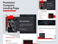Promotion Company Landing Page