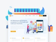 Ecommerce Landing Page store add to cart onlinestore fashion animation product minimal landing ecommence