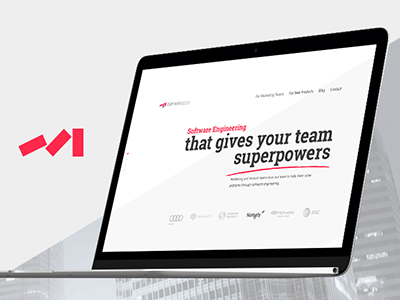 DarvinApps mockup developer fresh website ui clean