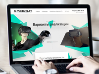 Educational VR Soft Landing page. Daily UI#8