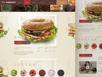 Bagel bar sandwich product page Daily UI#10