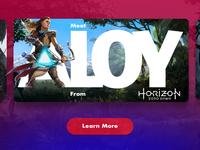 Horizon 2017 Videogame character card ui