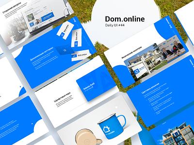 Daily ui #44 Real Estate Service. Branding and Logo presentation trend 2017 blue logo slide screens presentation daily ui ui daily