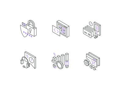 SMSPortal UI Icons isometric ux payment security url communication text sms ui vector icon