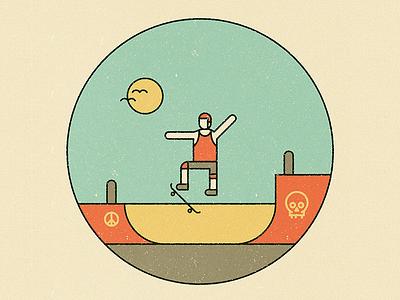 Skatepark des Ursulines illustration texture line lineart pictogram icon park skate