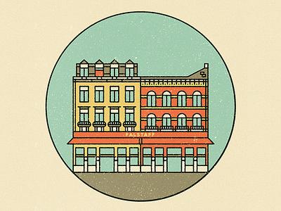 Le Falstaff restaurant belgium brussels line texture simple pictogram icon