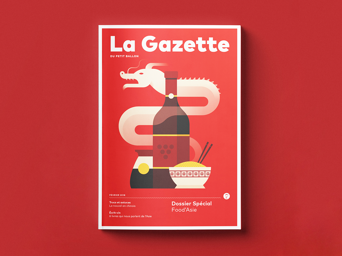 La Gazette February 2018 editorial chopsticks grapes sauce soy chinese food asia wine dragon cover magazine