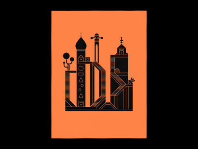 🏰 illustration icon tree valley monument game castle building vector